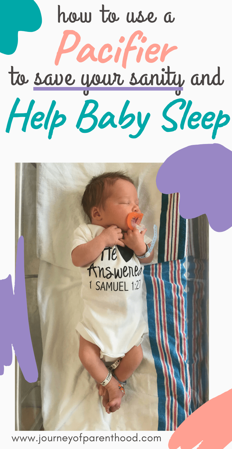 how to use a pacifier to save your sanity and help baby sleep.