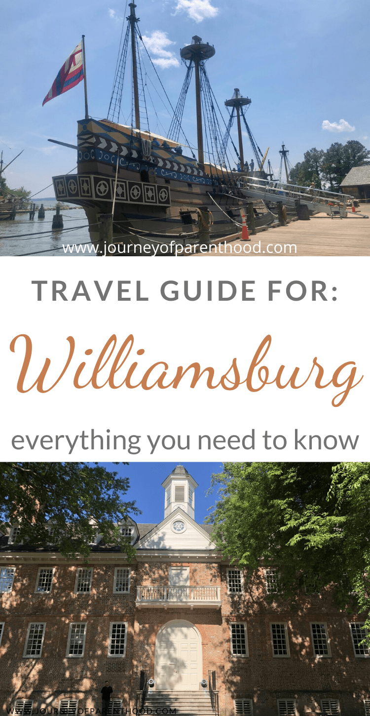 travel guide for Williamsburg virigina