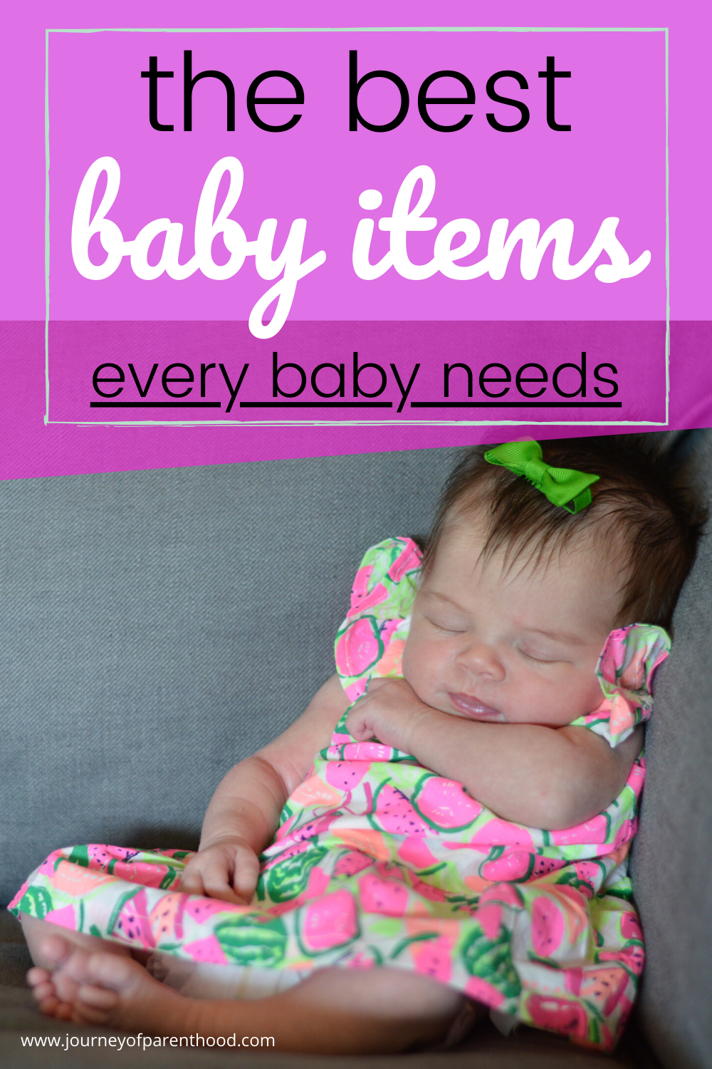 must have items for a new baby