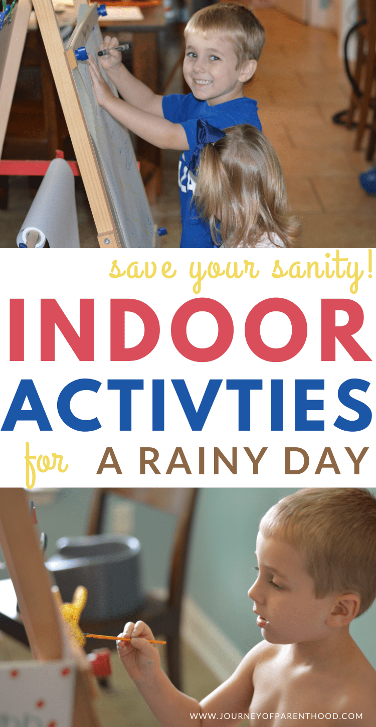 save your sanity - indoor activities for a rainy day!