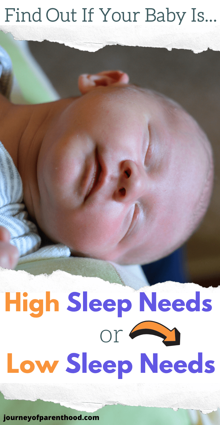 how to tell if you have a high sleep needs or low sleep needs baby and how to adjust the sleep schedule accordingly