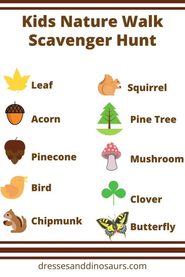 Kids Nature Scavenger Hunt (and free printable!)