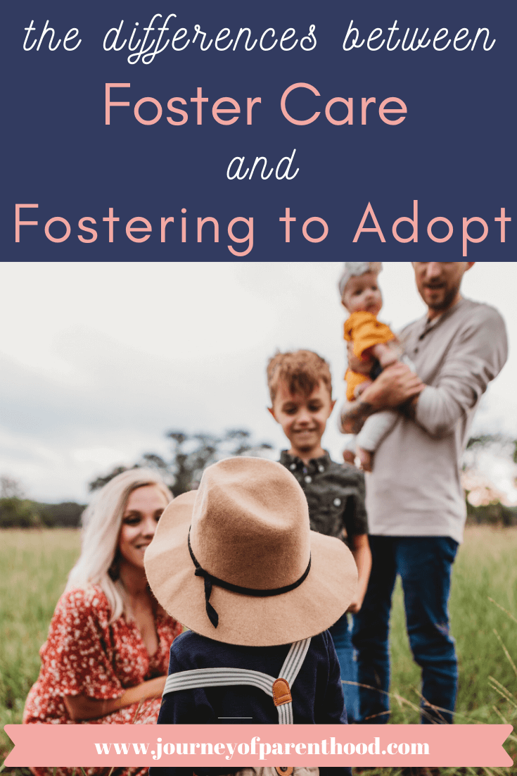 the differences between fostering and fostering to adopt