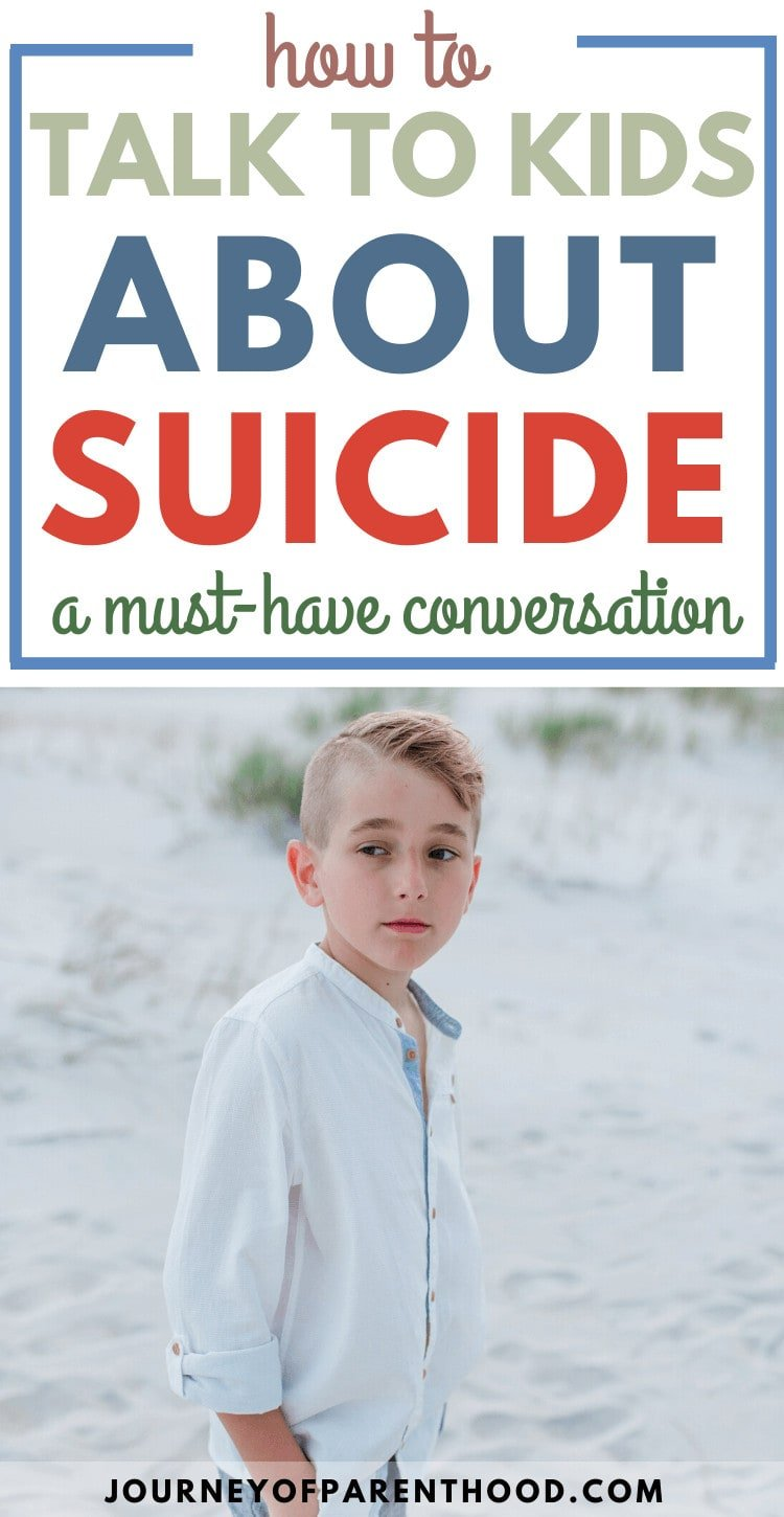how to talk to kids about suicide - talking to kids about suicide