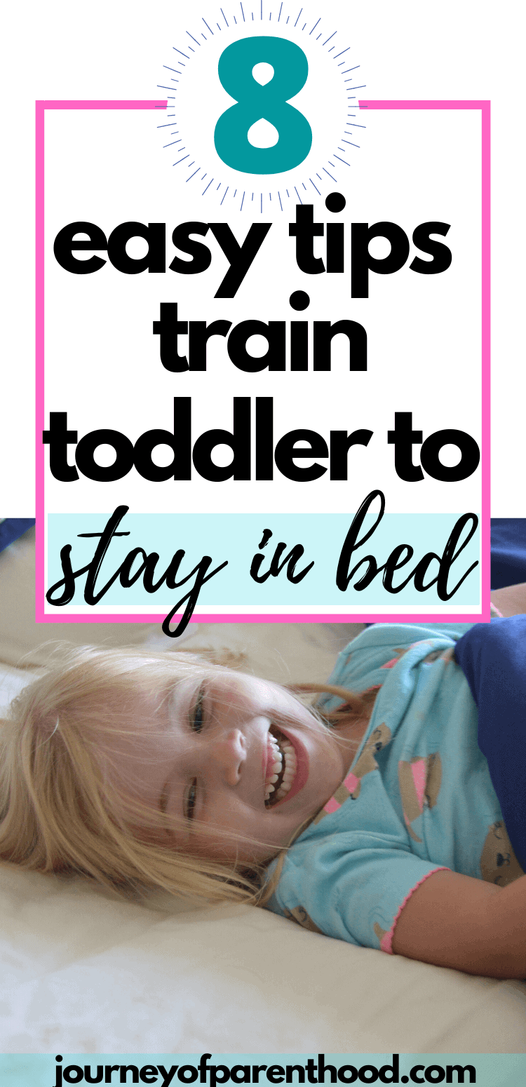 crib to bed transition - training toddler to stay in bed