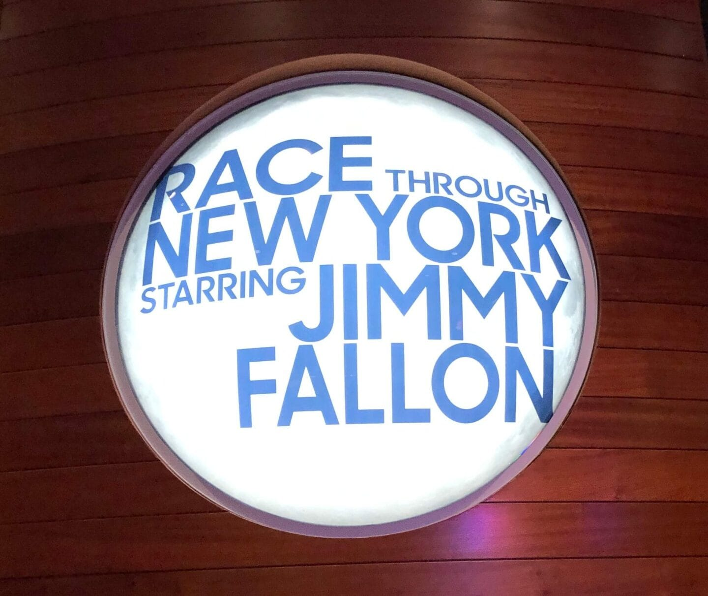 race through New York starring jimmy Fallon. the best universal Orland attractions with kids