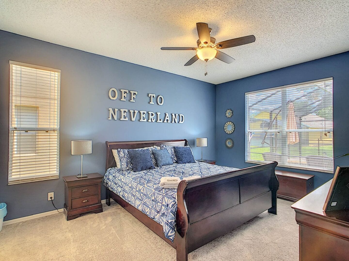 master bedroom in disney vacation rental home