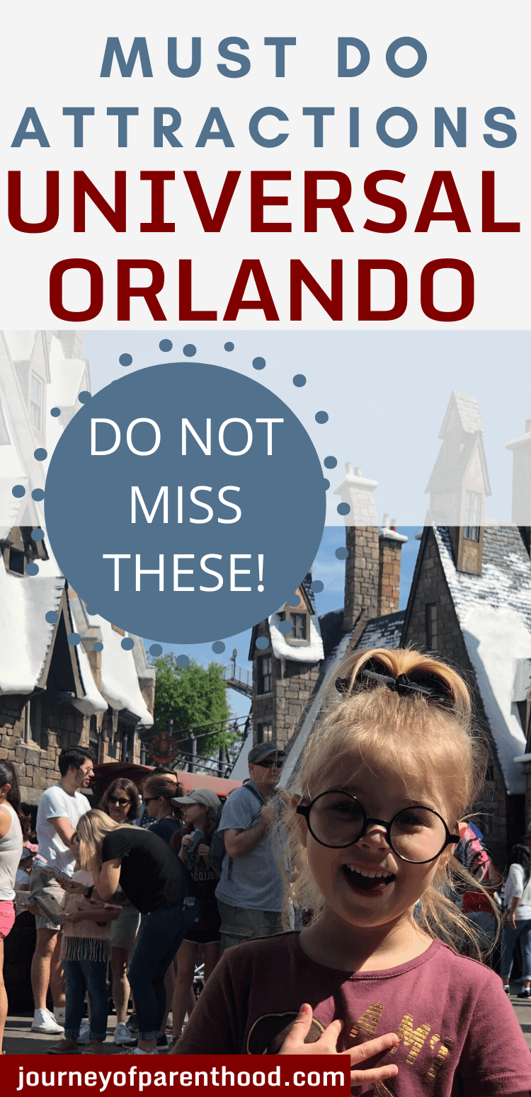 must do attractions at Universal Orlando