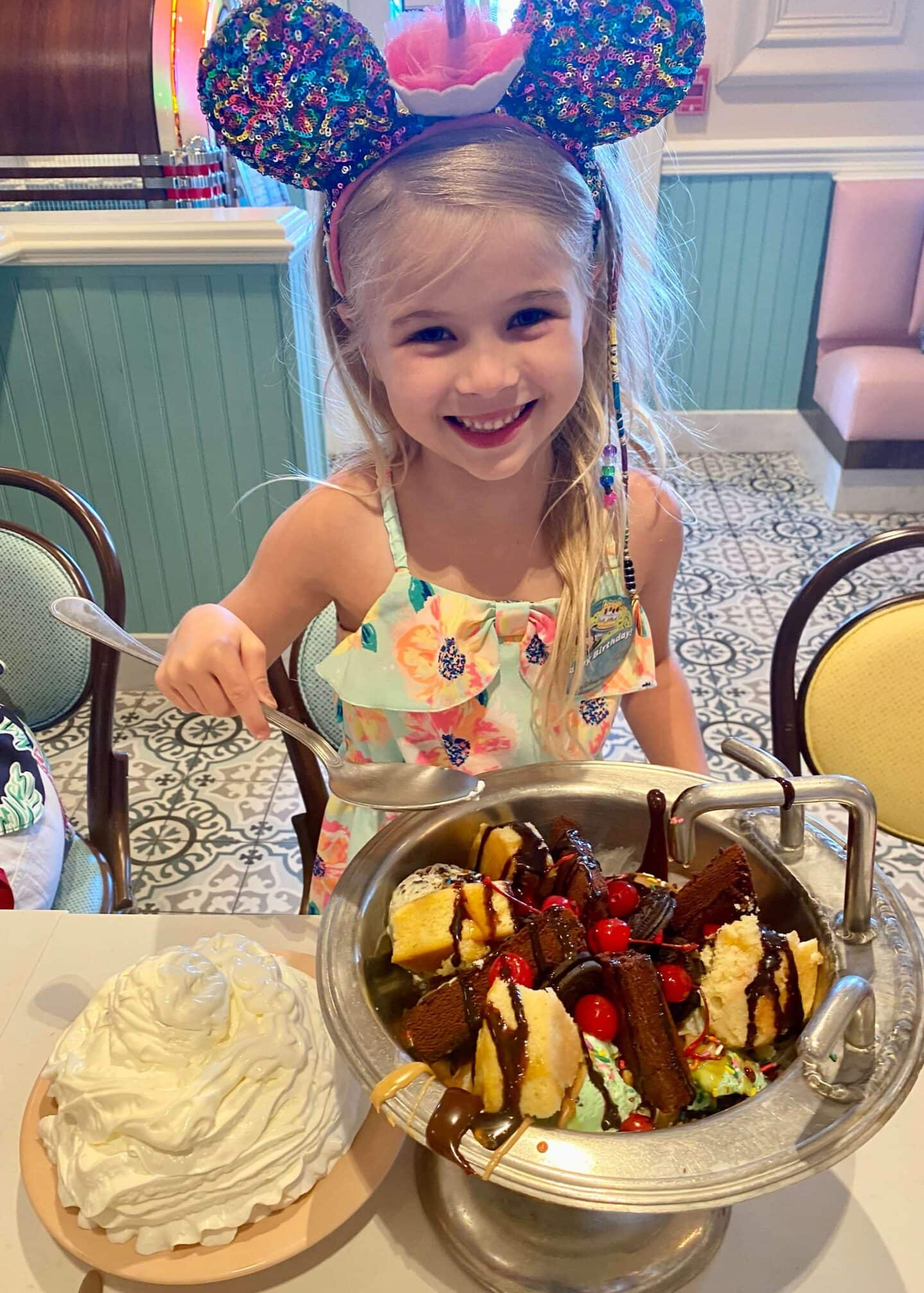 Tess's Birthday Dinner at Beaches and Cream