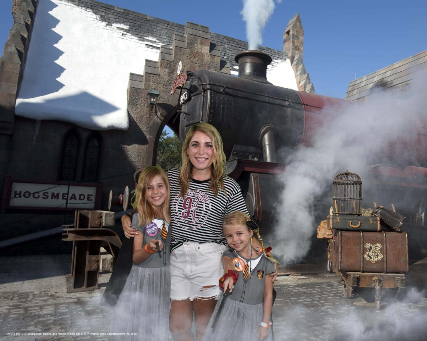 the wizarding world of Harry Potter shutter button photo studio
