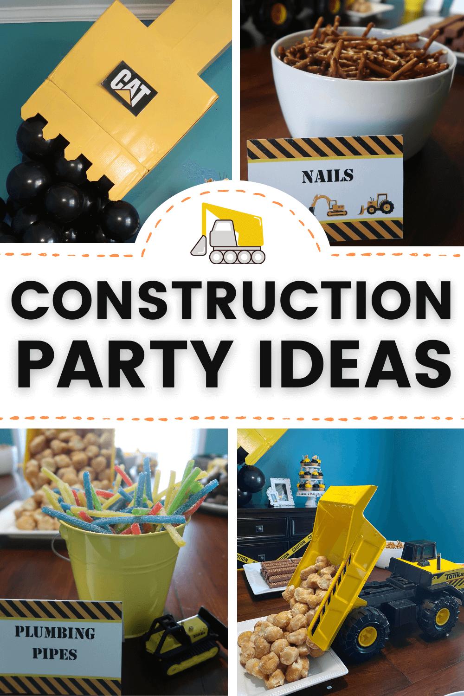 construction birthday party decor ideas