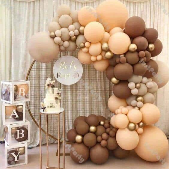 simple color pallete baby shower