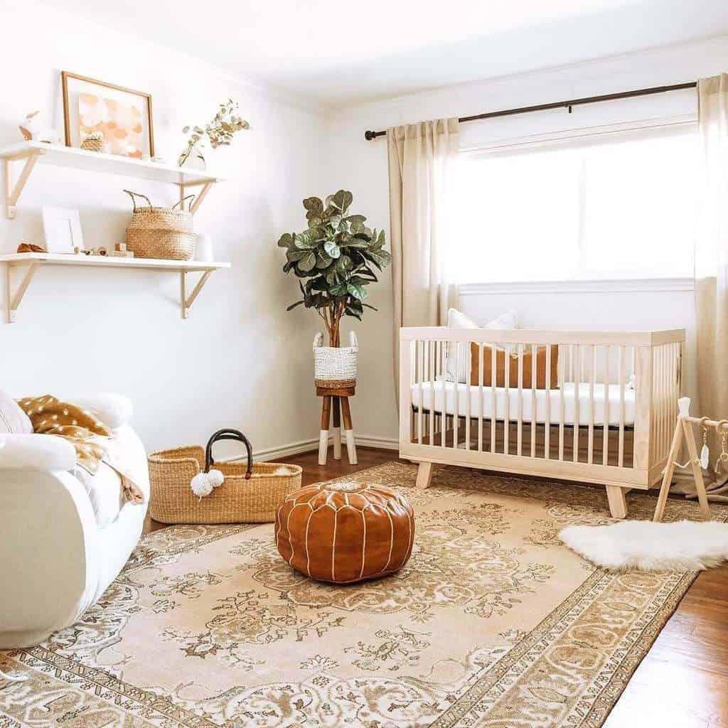 gender neutral themed baby nursery