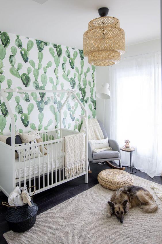 gender neutral cactus themed nursery
