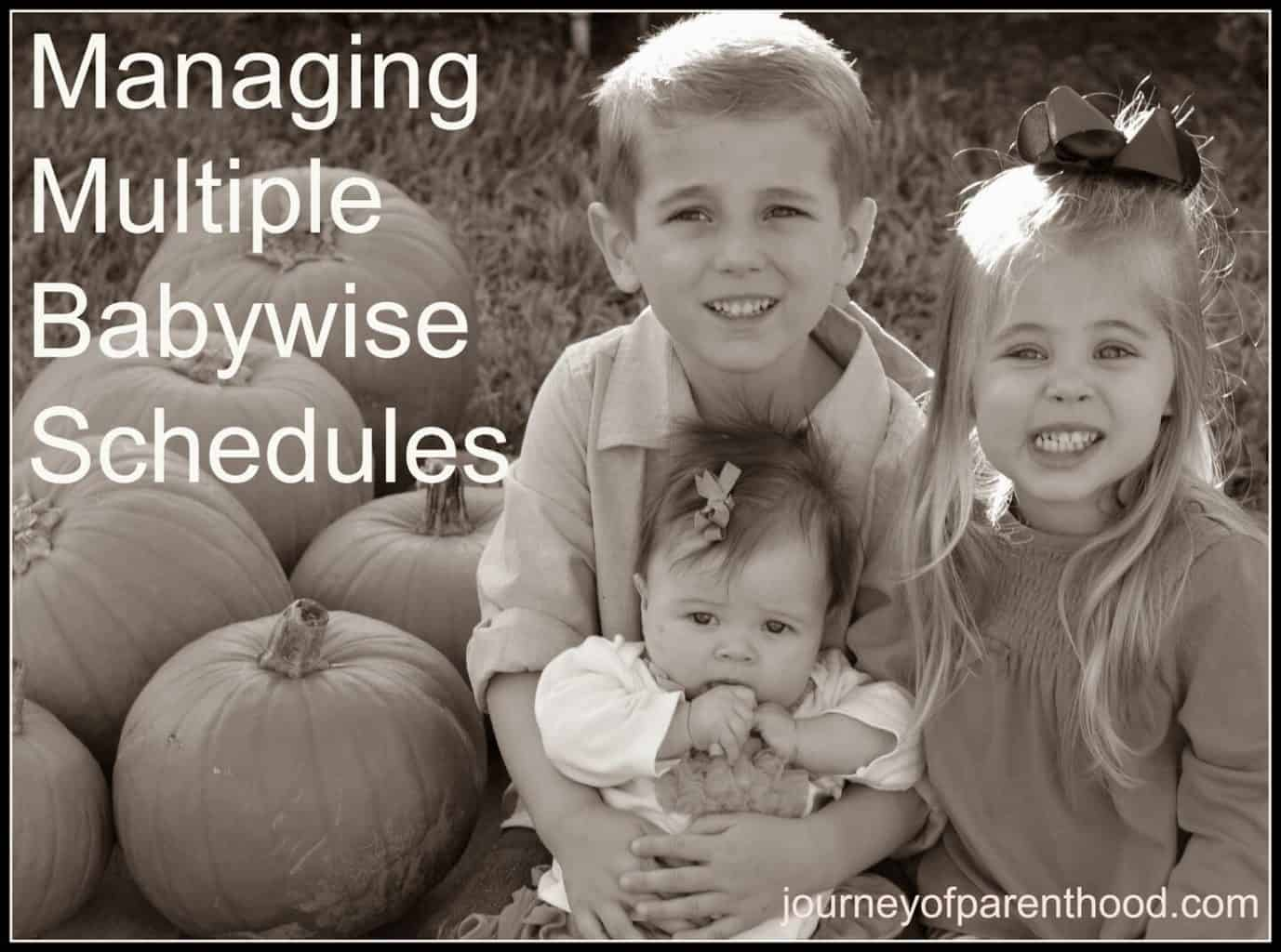 managing multiple babywise schedules