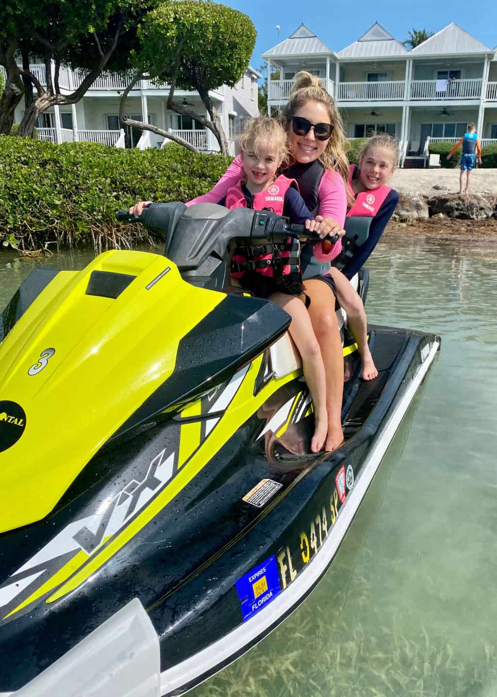 jet skiing with kids in key west