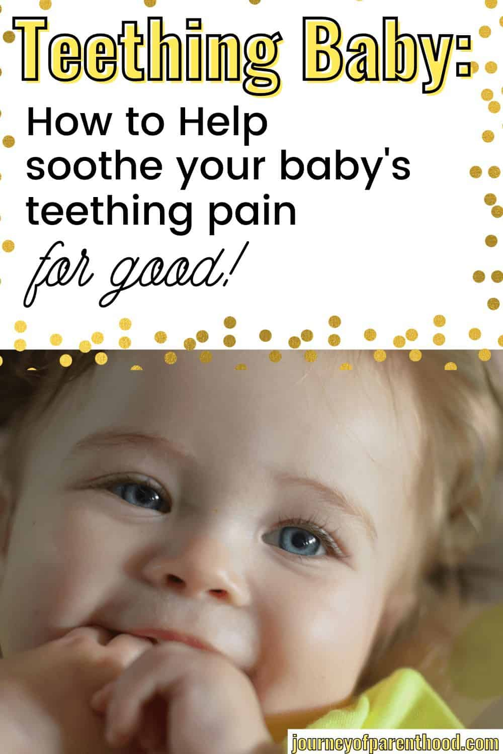 soothe a teething baby