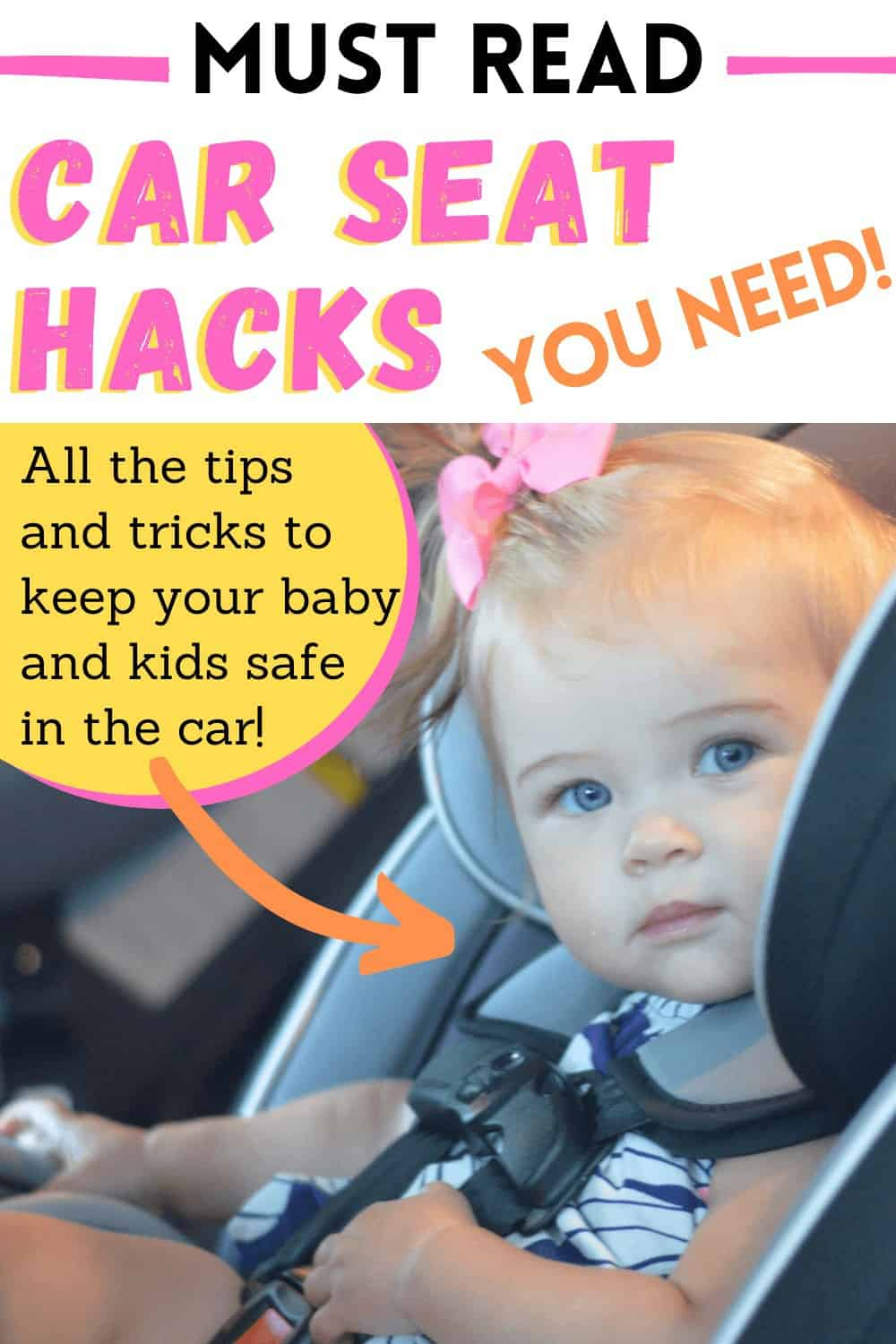 car seat hacks including how to clean vomit from car seat and how to fix a stuck car seat