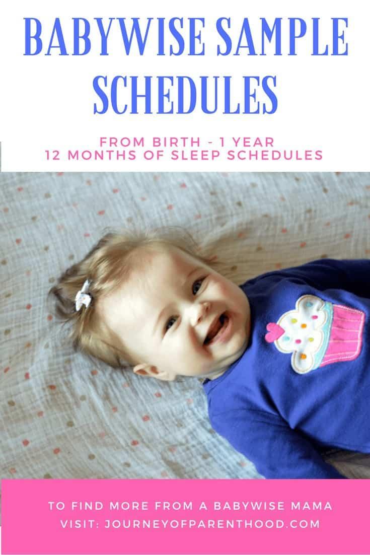 birth to 12 month babywise schedules